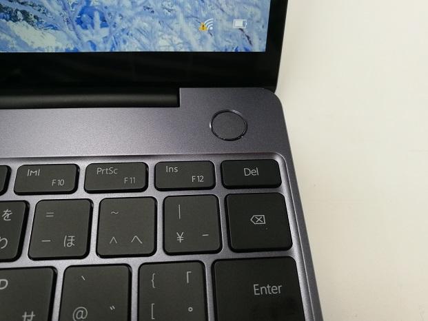 HUAWEI MateBook 13 電源&指紋認証ボタン